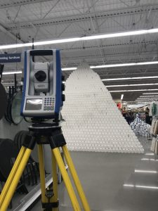 Spectra Precision Focus 35 Total Station used to measure world's tallest toilet paper pyramid